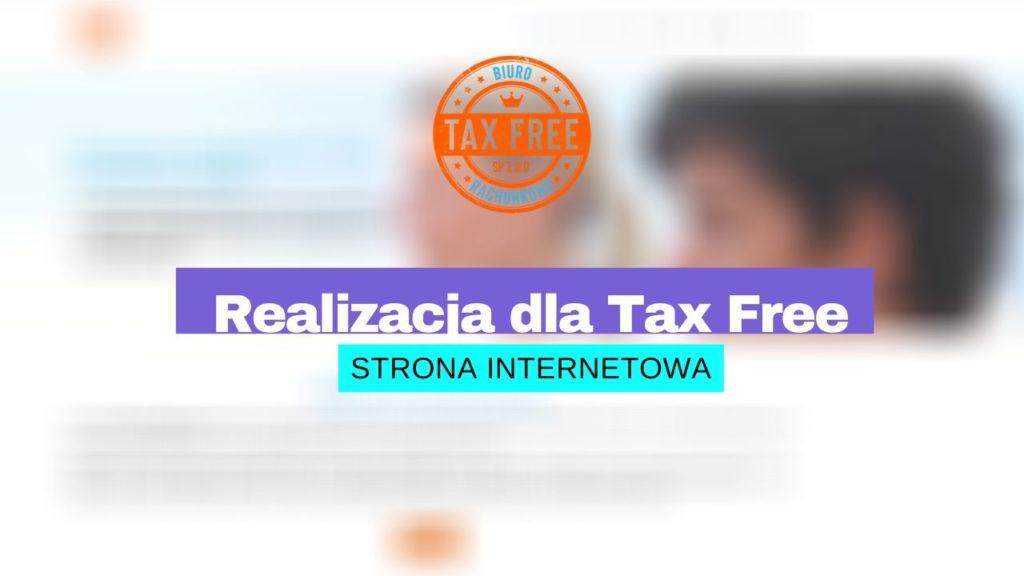 Strona internetowa dla Tax Free