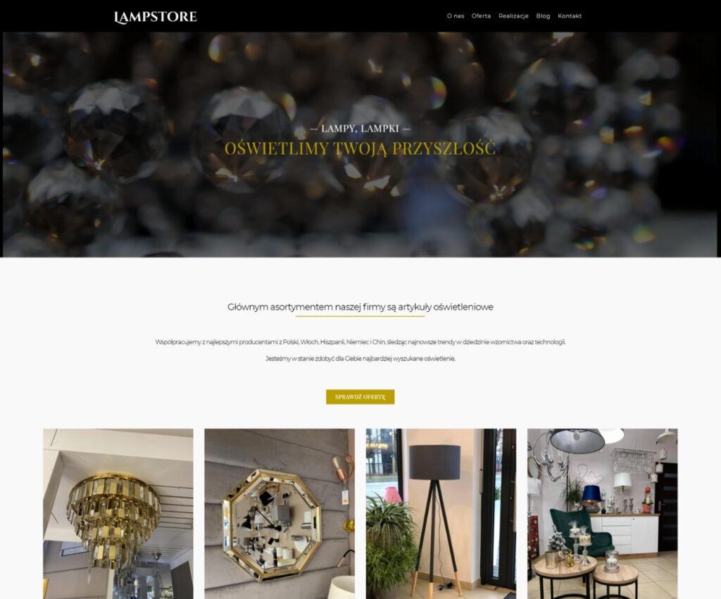 Agencja reklamowa - strona internetowa dla sklepu
