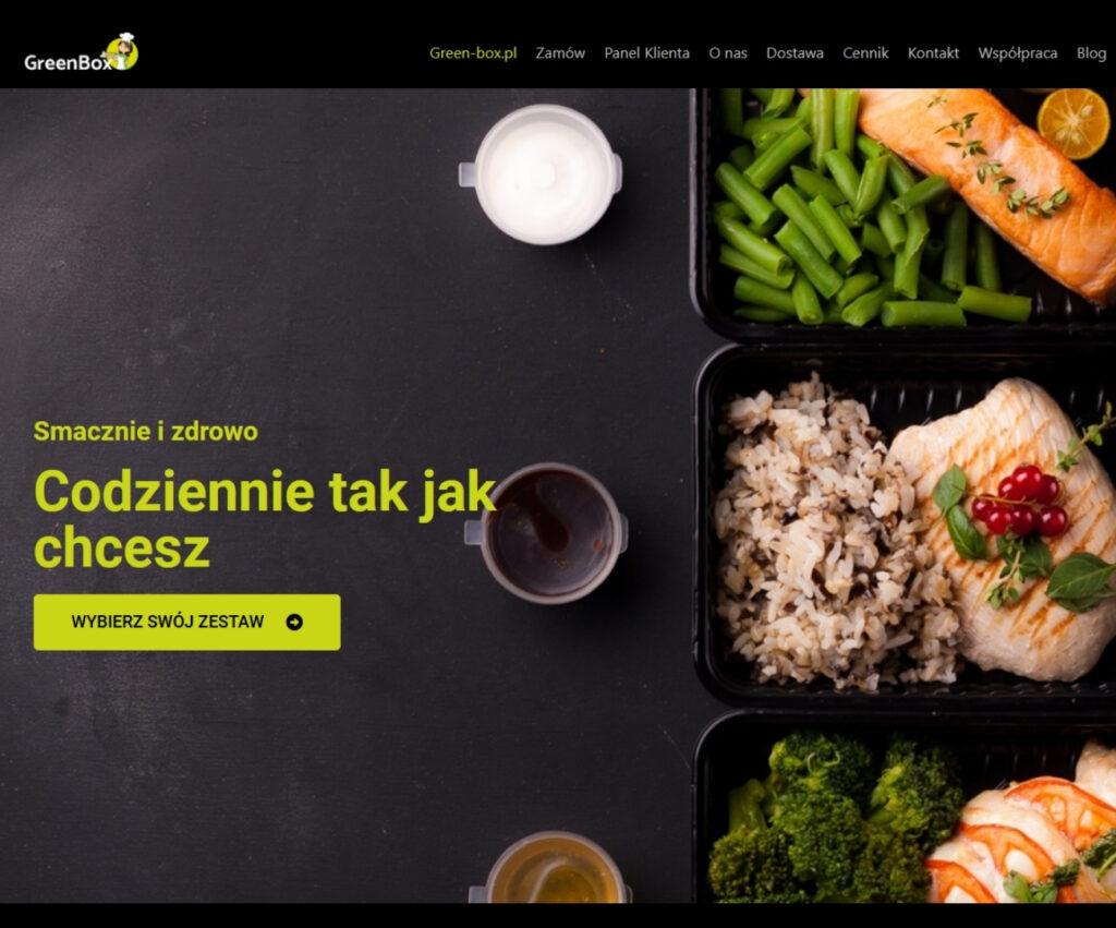 Agencja reklamowa - strona internetowa dla diety pudełkowej GreenBox