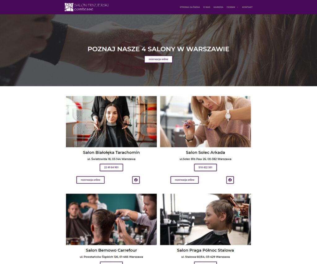Agencja reklamowa - strona internetowa dla branży beauty